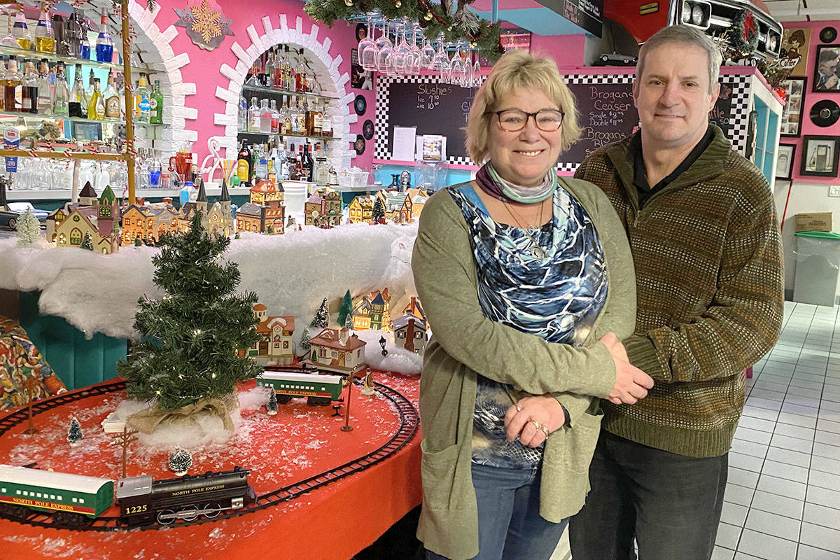 Shannon and Keith Brogan of Brogan's Diner located in Langley City are preparing to serve about 500 Christmas dinners to those in the community in need of a warm meal on Christmas Day 2020. (Joti Grewal/Langley Advance Times)