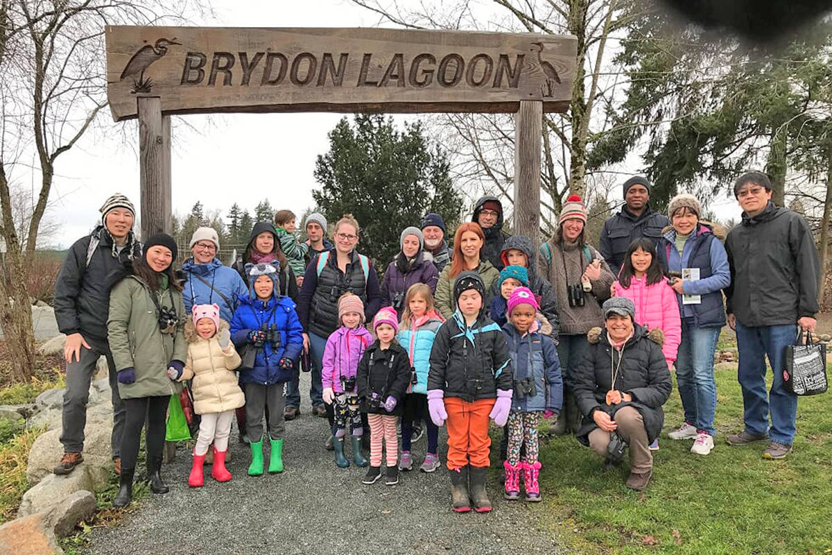 The Christmas Bird Count for Kids and Youth takes place Dec. 26 to 28, 2020. Last year's count attracted several families. This year's event includes COVID precautions. (Explorer Science Club photo)