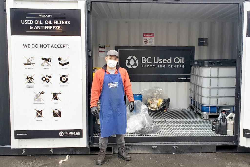 Sung Kim, owner of Aldergrove Return-It Depot, now welcomes oil, filters, and antifreeze. (Kari Kylo/Special to The Star)