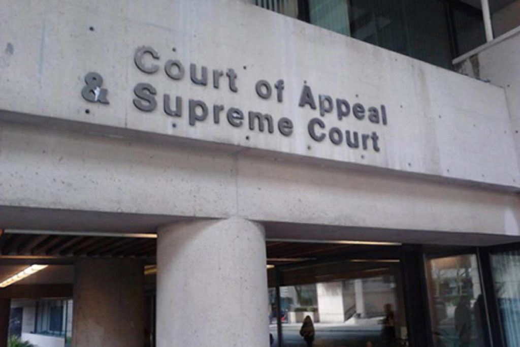 Court of Appeal in Vancouver. (File photo: Tom Zytaruk)