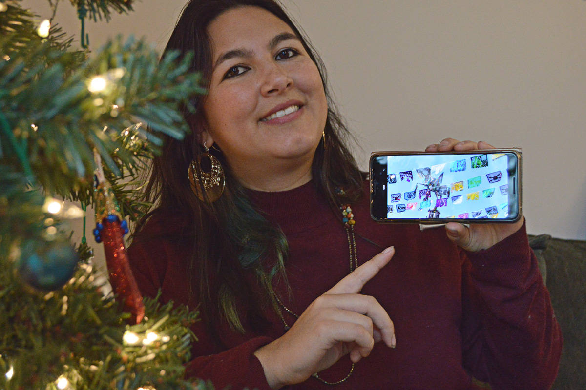 Mariana Arámburu shared traditions from her homeland of Mexico, which includes brighly coloured banners, pinatas and special treats. (Ryan Uytdewilligen/Black Press Media)