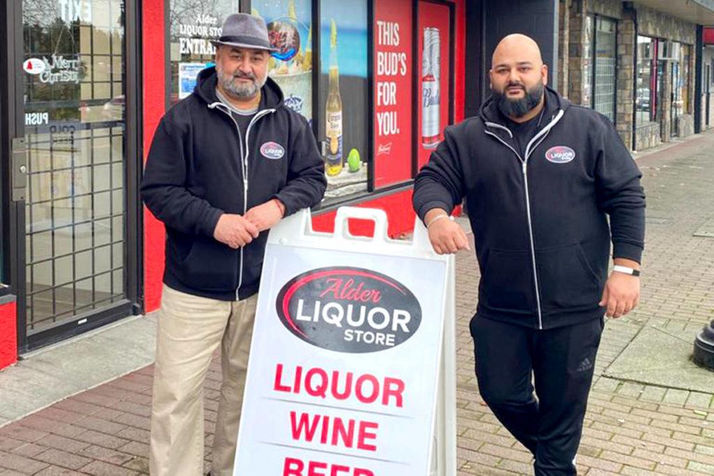 Dave Sharma & Sunny Sharma (father and son) of Alder Liquor Store. (Special to the Aldergrove Star)