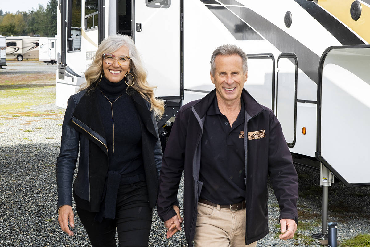 Arbutus RV owners Rose and Craig Little. Photography by Lia Crowe