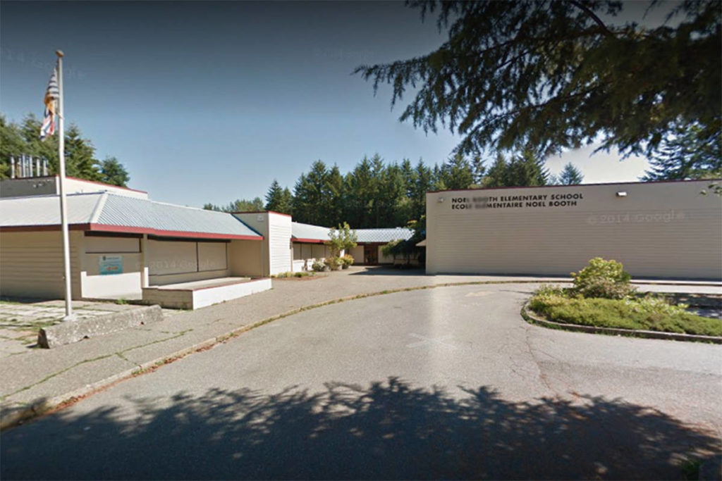 Noel Booth Elementary was issued a COVID-19 exposure notice by the Langley School District on Monday, Dec. 21, 2020. (Google photo)