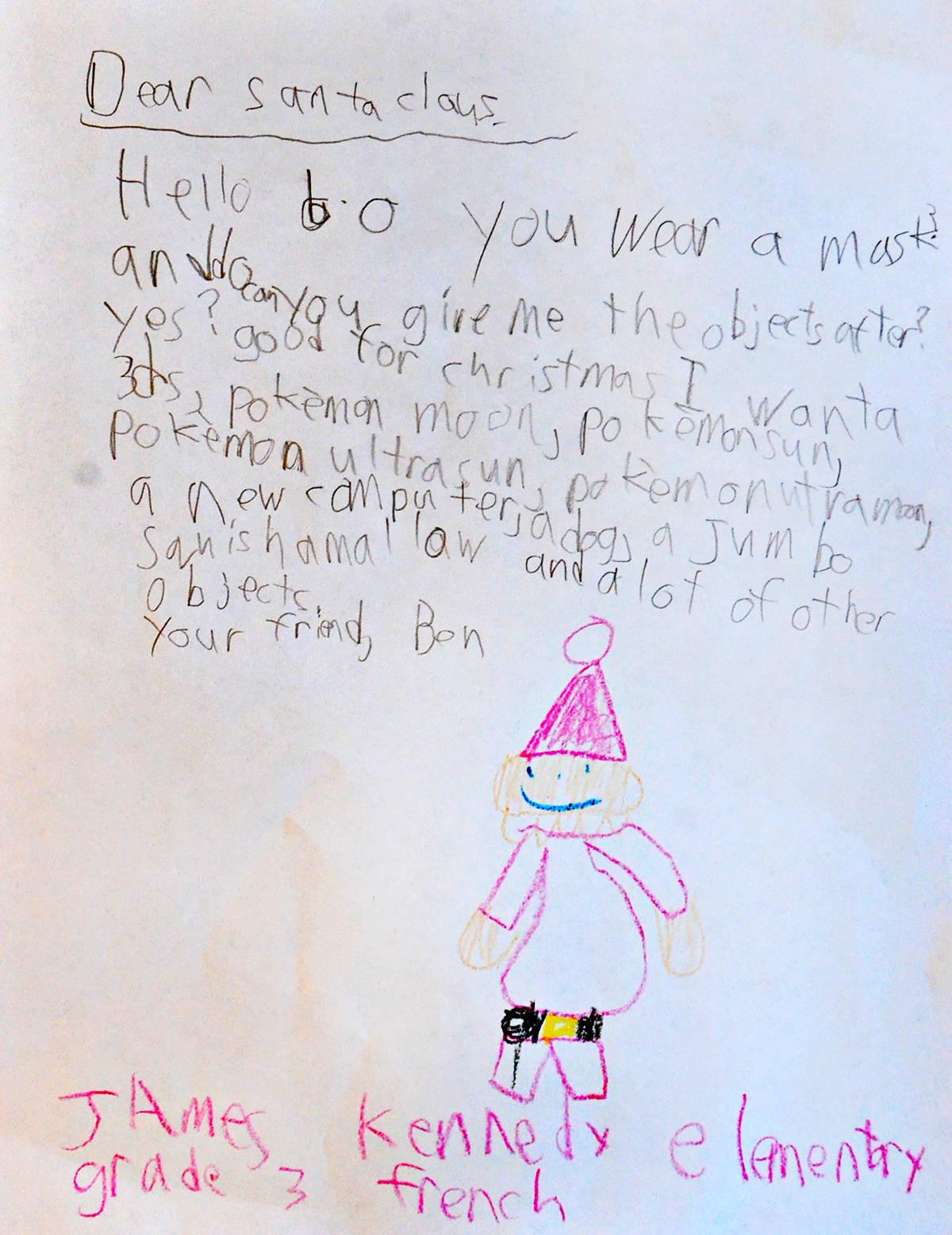 Ben, Grade 3, James Kennedy Elementary