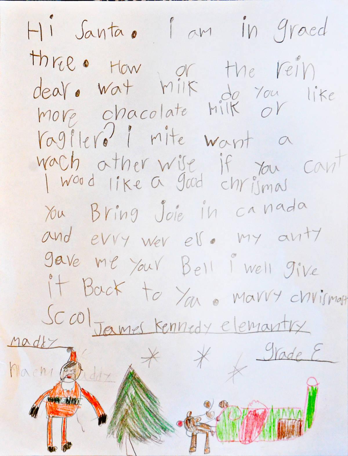 Maddy, Grade 3, James Kennedy Elementary