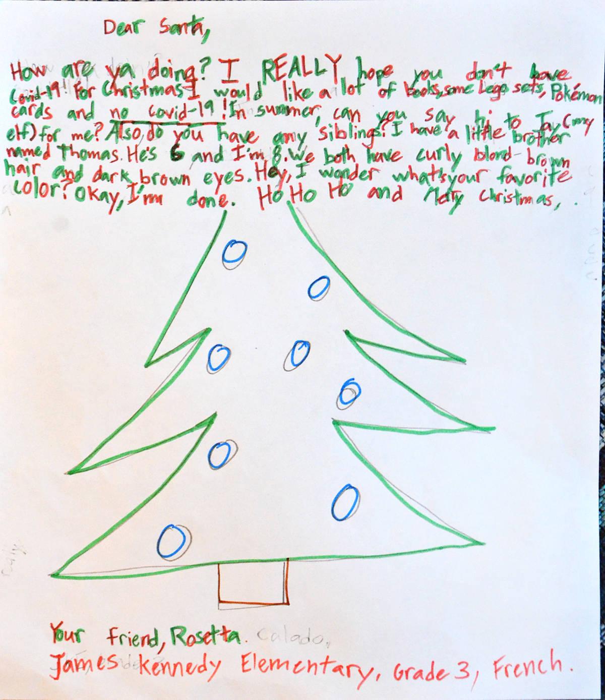 Rosetta, Grade 3, James Kennedy Elementary