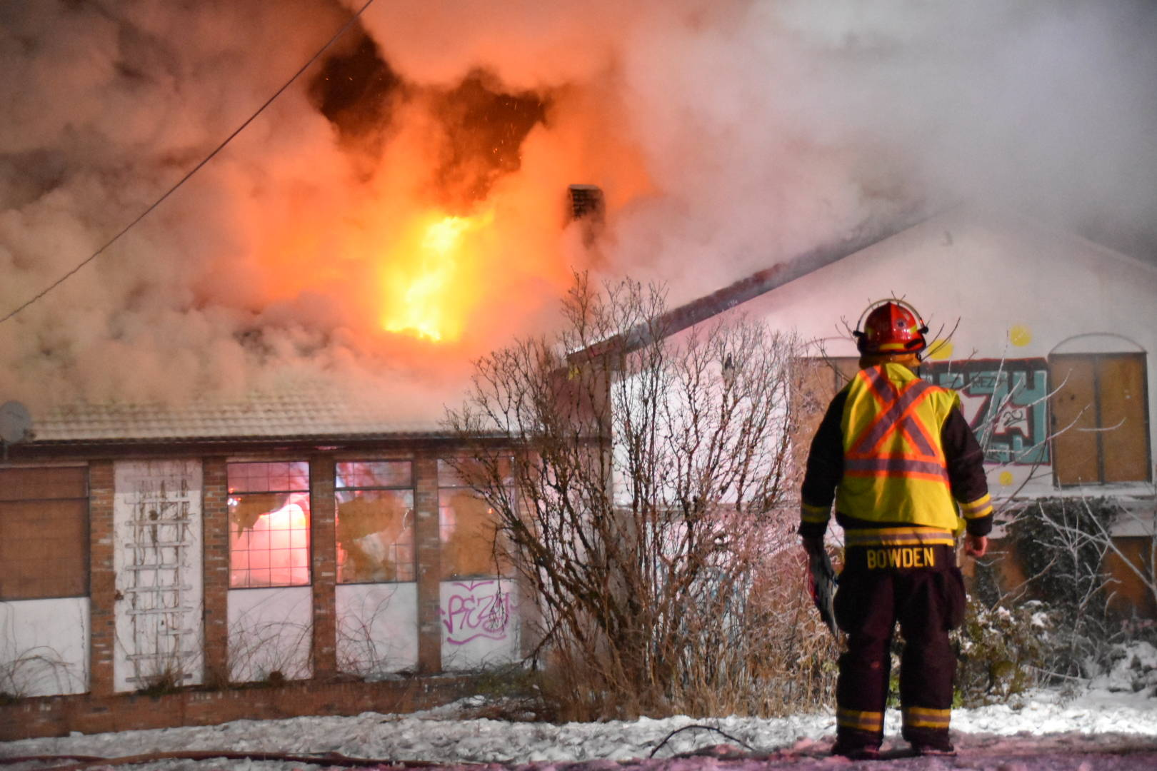 Township of Langley firefighters reported to a house fire in the 20500 block on 78th Ave. on Tuesday, Dec. 22, 2020. (Curtis Kreklau/Special to Langley Advance Times)