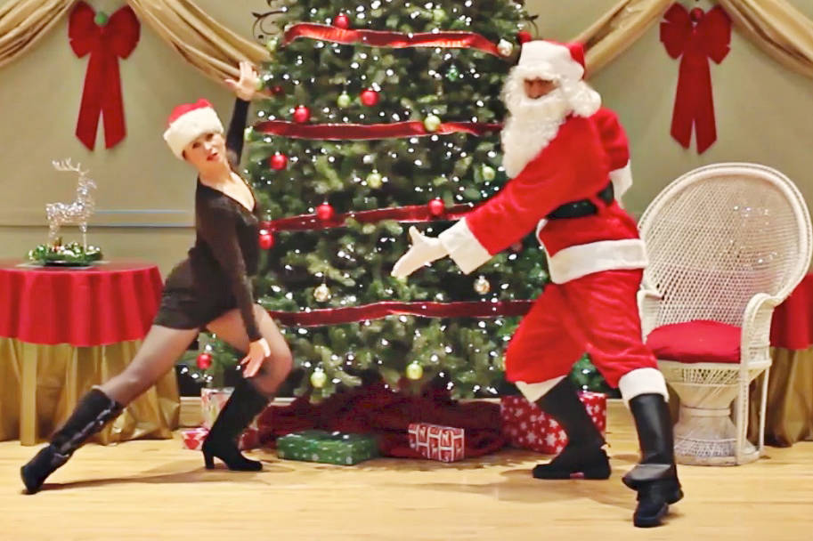 Owners Madgelena Rudzik and Andrew McIntosh have released a video of the Dancing for Dessert studio Christmas Dance Challenge. (Screen grab)