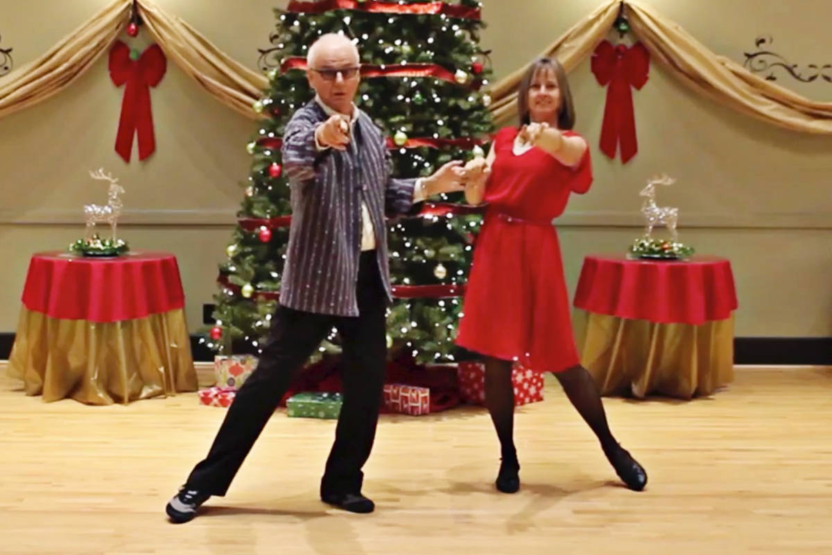 Dancing for Dessert Ballroom and Latin Dance Studio held a Christmas Dance Challenge and posted a video online of students. (Screen grab)