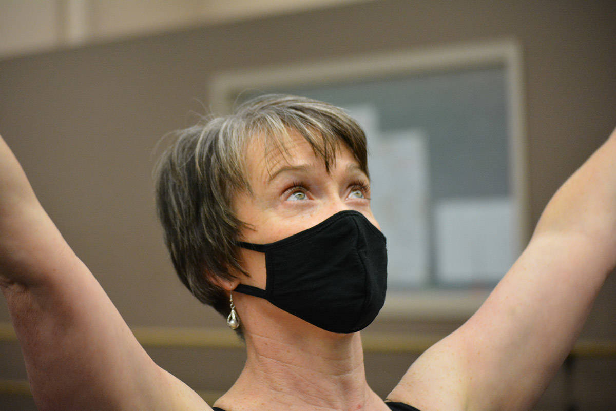 A dance studio owner in Williams Lake adjusts to COVID-19 restrictions. It looks like she is making the best of the situation. (Monica Lamb-Yorski/Williams Lake Tribune)