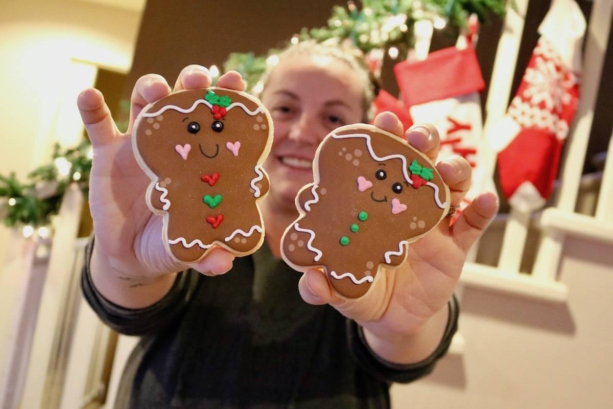 Langford's Heather Charlton had dozens of her custom cookies featured in two Hallmark holiday movies. (Aaron Guillen/News Staff)