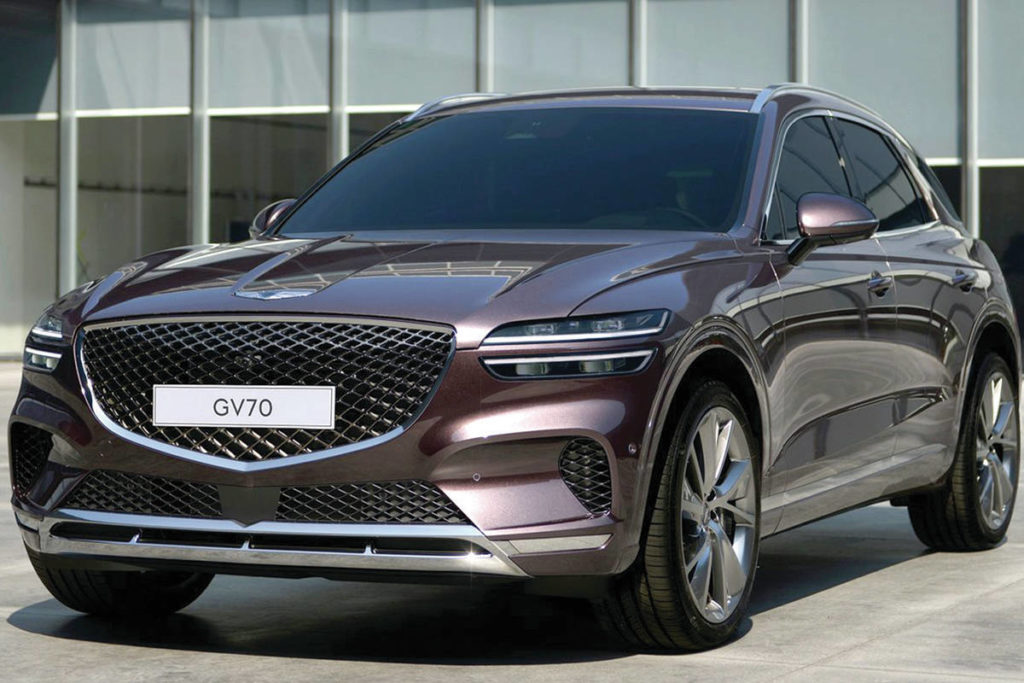 The GV70 will be the second utility vehicle to join the Genesis lineup. It's smaller than the GV80 and will have a lower base price. PHOTO: GENESIS
