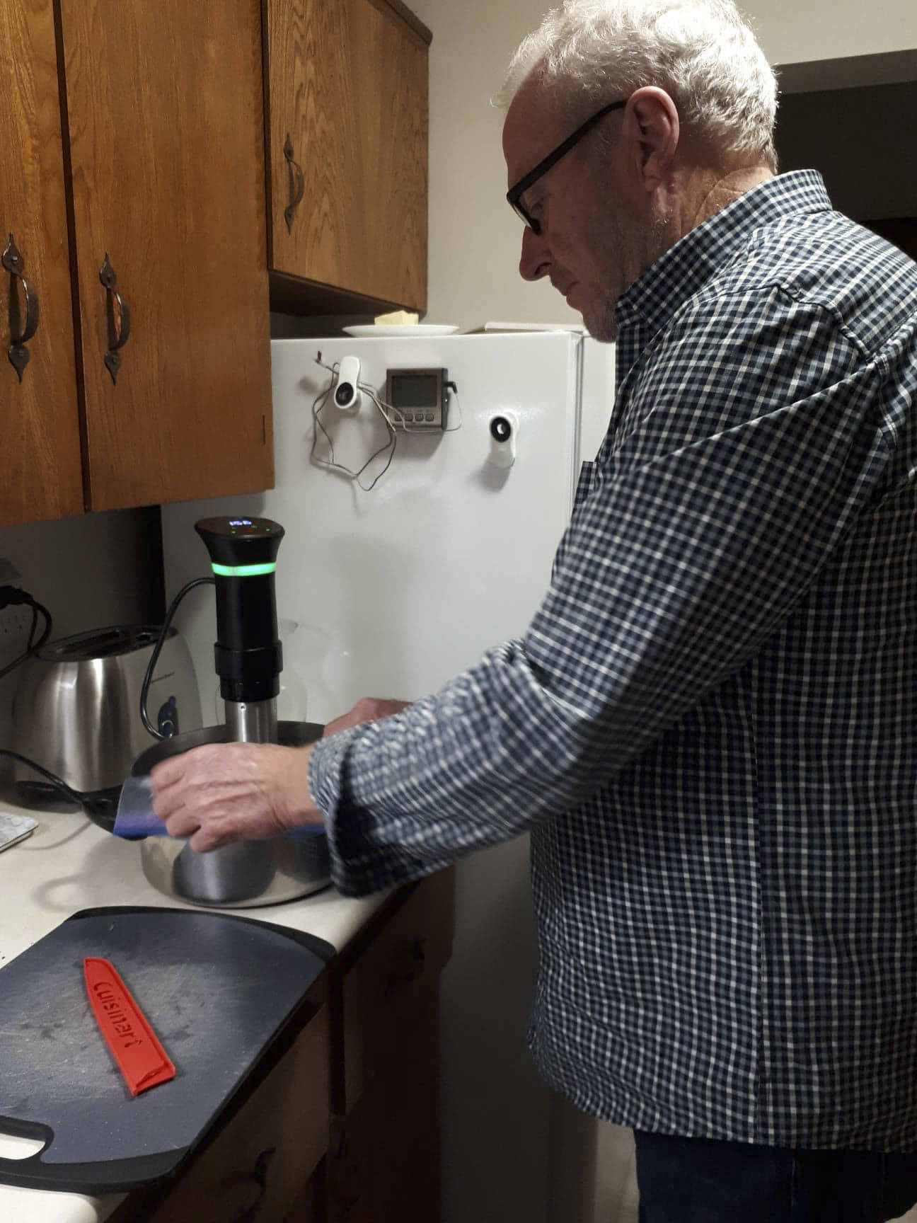 Joan Murray's husband learned how to cook sous vide and she says it's been so yummy they've made it a weekly occurrence. (Courtesy of Joan Murray)