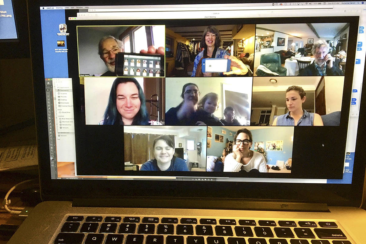 Marian Schoenmakers has been doing a weekly Zoom call with her family in Ontario, New Hampshire and Uganda. She says it's brought their family back together. (Courtesy of Marian Schoenmakers)