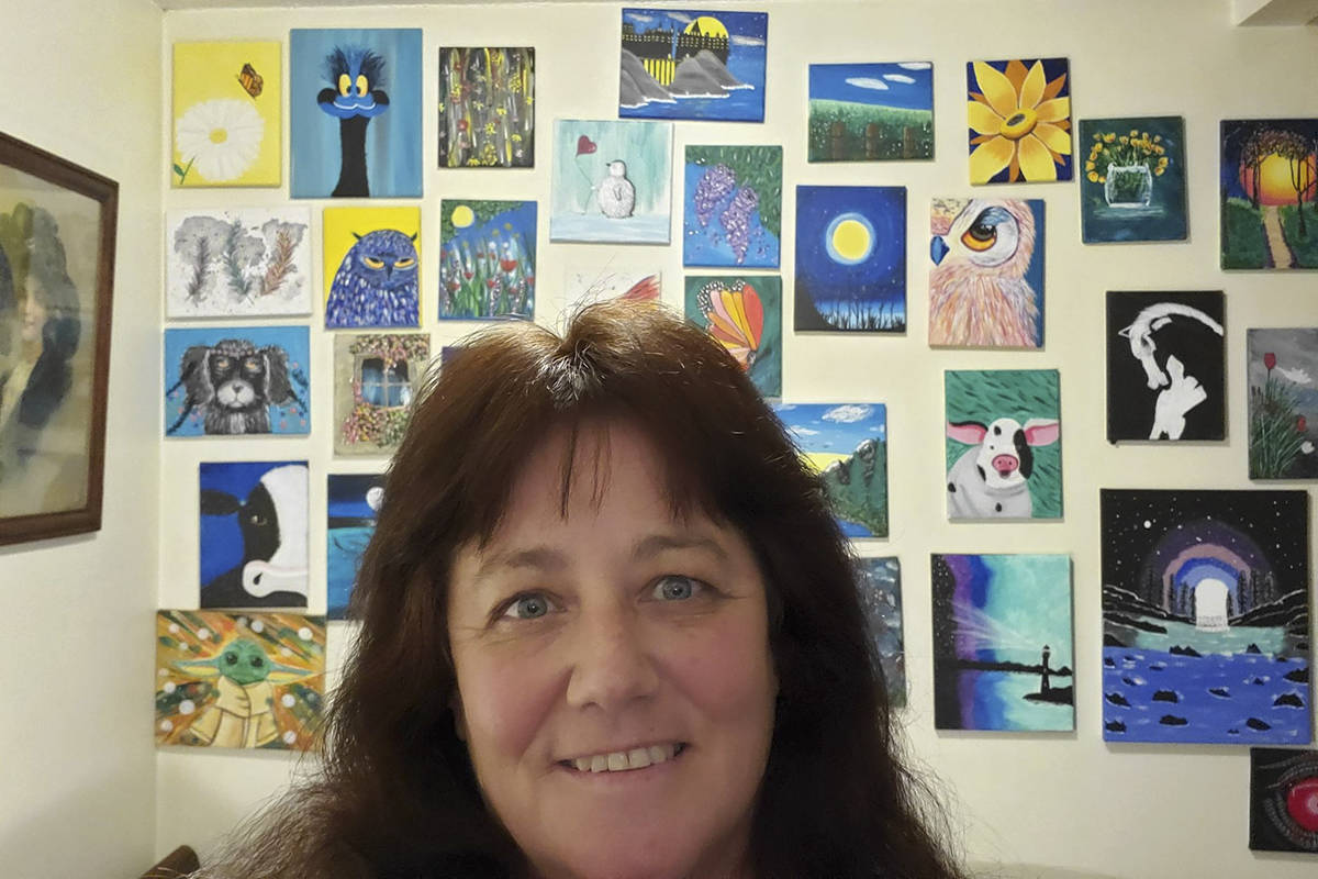 After not painting for 50 years, Corrie Philip started doing online tutorials and quickly discovered she has a talent. She has finished over 170 paintings so far. (Courtesy of Corrie Philip)
