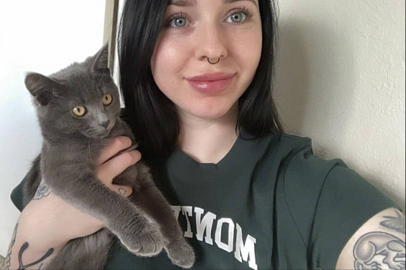 Madison Davenport was inspired to get a cat and named it Monchichi. (Courtesy of Madison Davenport)