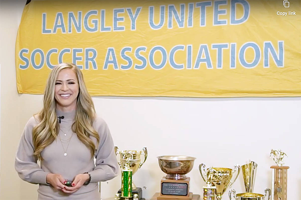 Chelsey Hanneson, LUSA assistant technical director, hosted the 2020 awards, held online (video image)