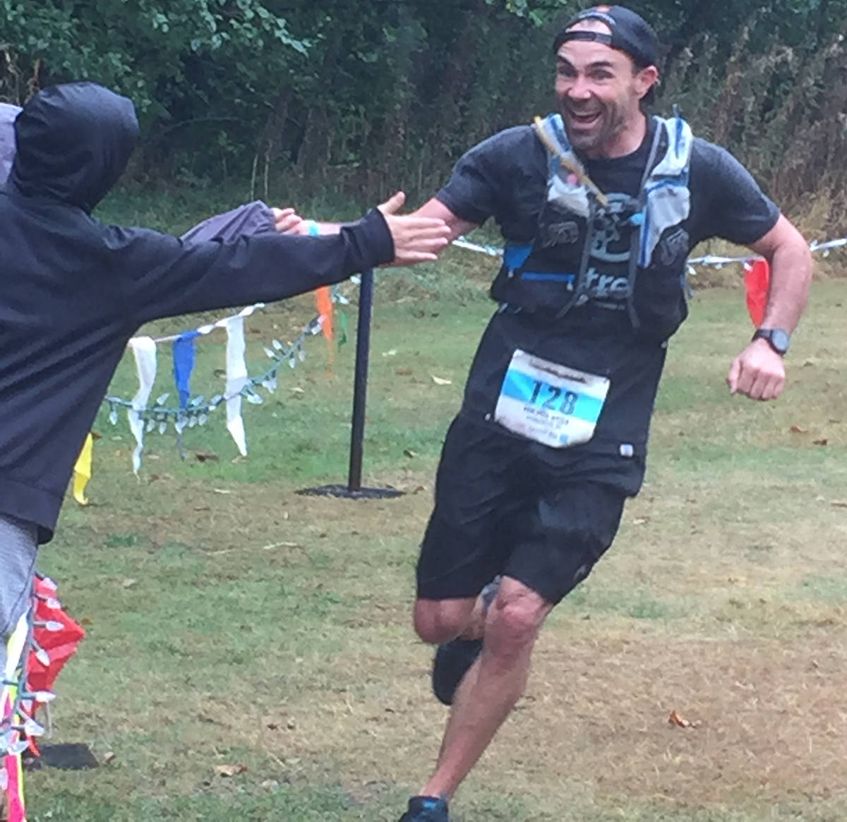 Trevor Coey finishes ninth overall at the 2017 Finlayson Arm 50km ultra marathon. (Photo courtesy of Trevor Coey)