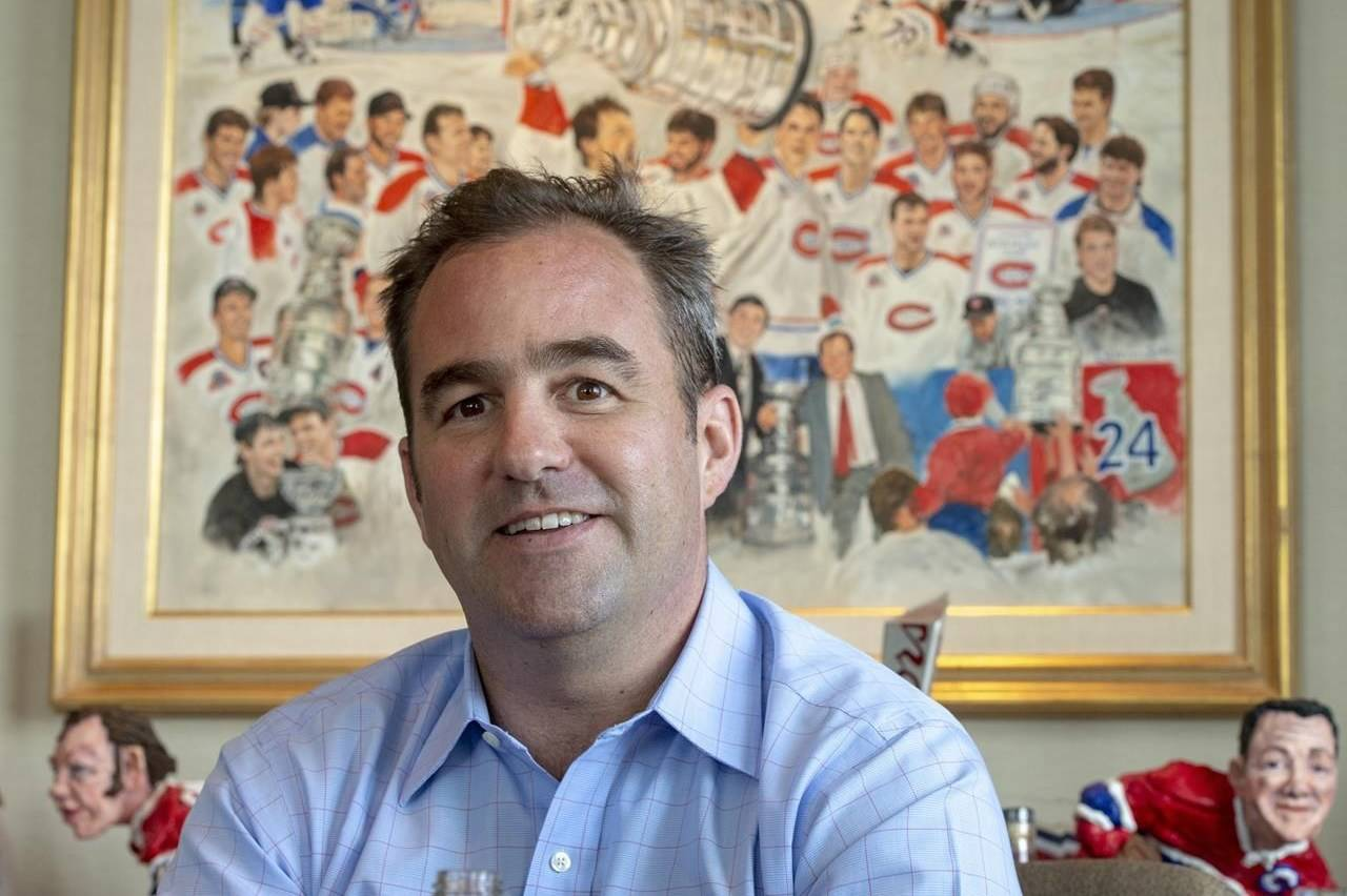 Montreal Canadiens owner Geoff Molson is seen in his office at the Bell Centre in Montreal on Tuesday, June 11, 2019. THE CANADIAN PRESS/Ryan Remiorz