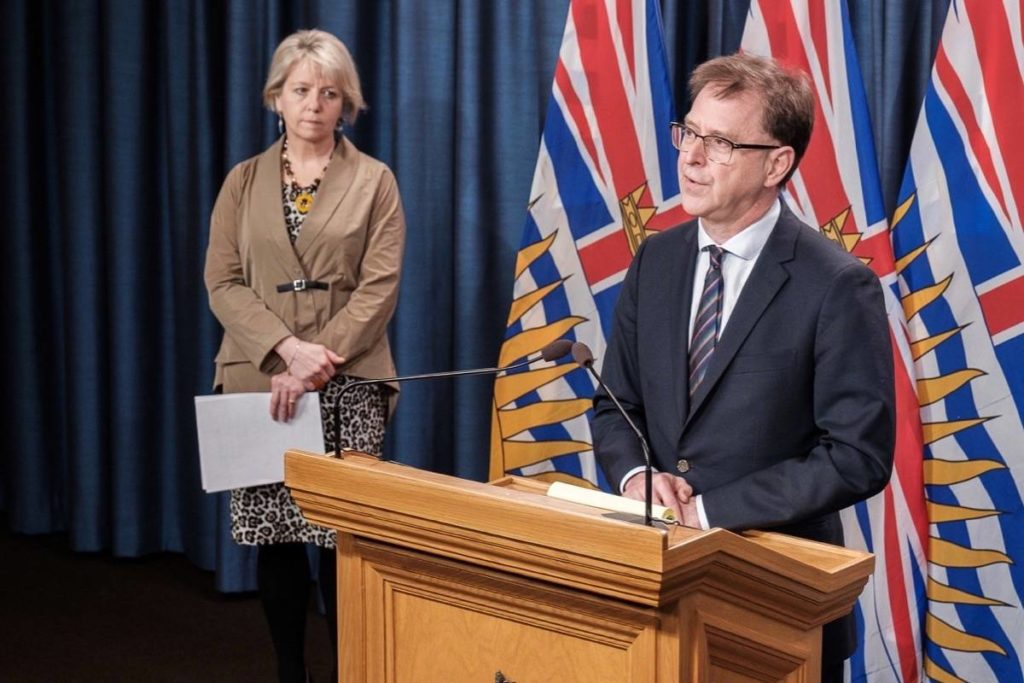 B.C. Health Minister Adrian Dix and provincial health officer Dr. Bonnie Henry update the COVID-19 situation, B.C. legislature, Dec. 10, 2020. (B.C. government)