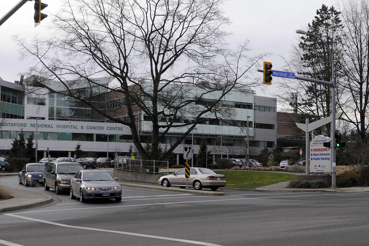 The Abbotsford Regional Hospital and Cancer Centre is the site of a COVID-19 outbreak in a medicine unit. (Abbotsford News file photo)