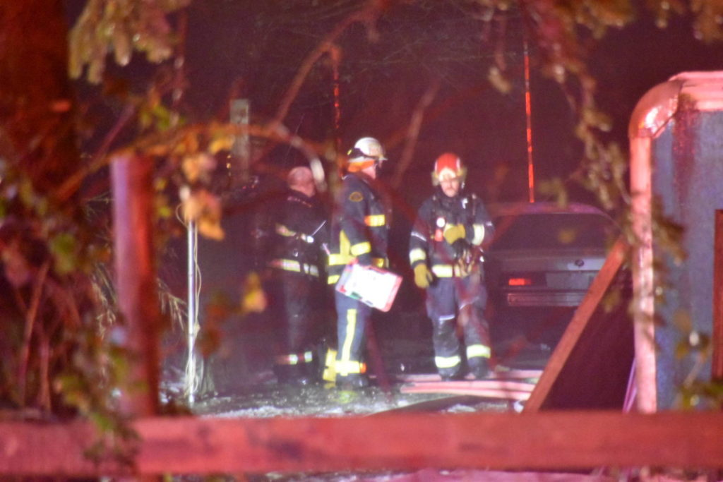 Township of Langley firefighters were called to a house fire on Dec. 26, 2020 in the 2000-block of 200th St. around 12:30 p.m. Three occupants were able to escape, but two dogs died in the blaze. (Curtis Kreklau/Special to Langley Advance Times)