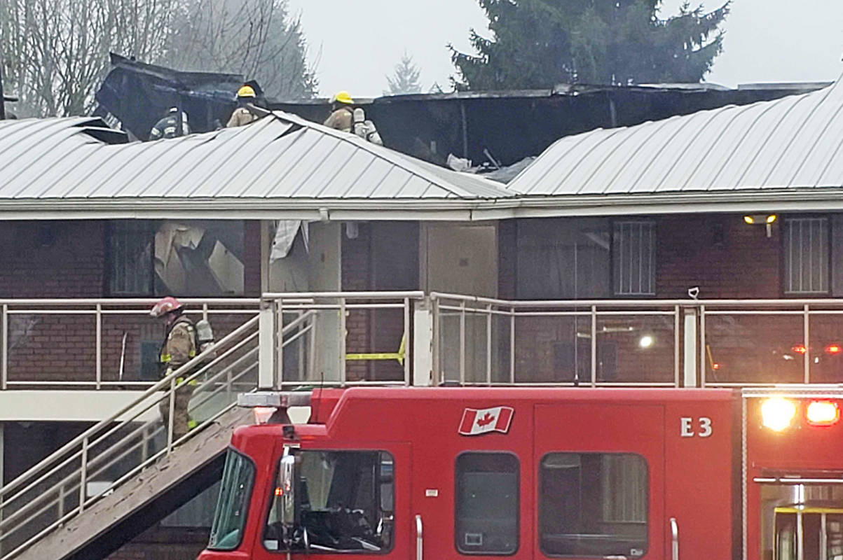 Firefighters said all of the occupants got out of the building safely. (Neil Corbett/The News)