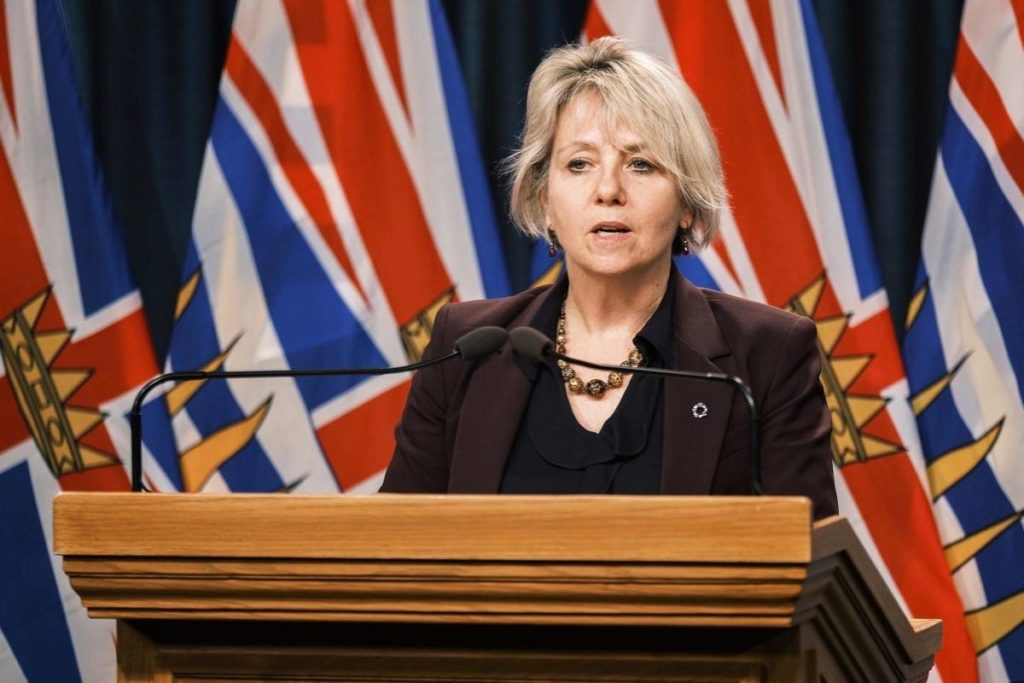 Provincial health officer Dr. Bonnie Henry updates COVID-19 situation at the B.C. legislature, Dec. 17, 2020. (B.C. government)