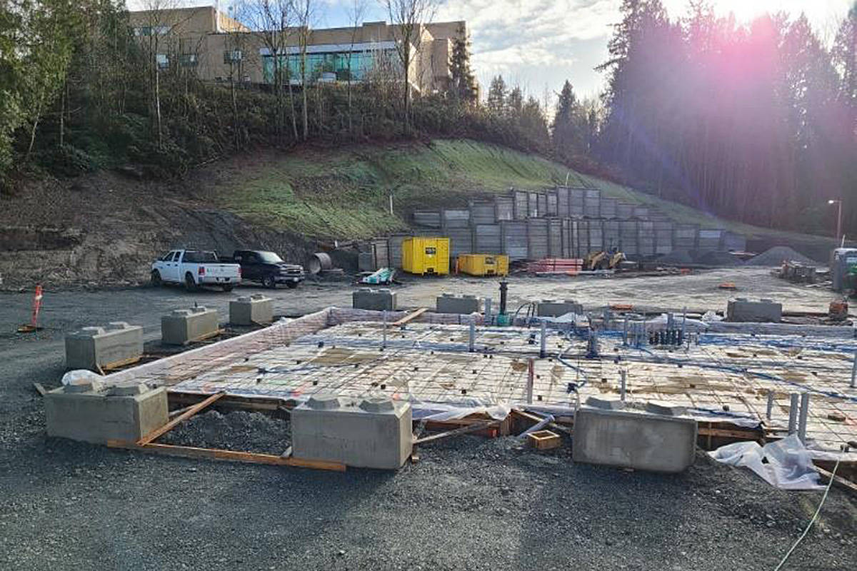Construction of the new Langley Hospice is underway this winter. (Langley Hospice Society/Special to the Langley Advance Times)