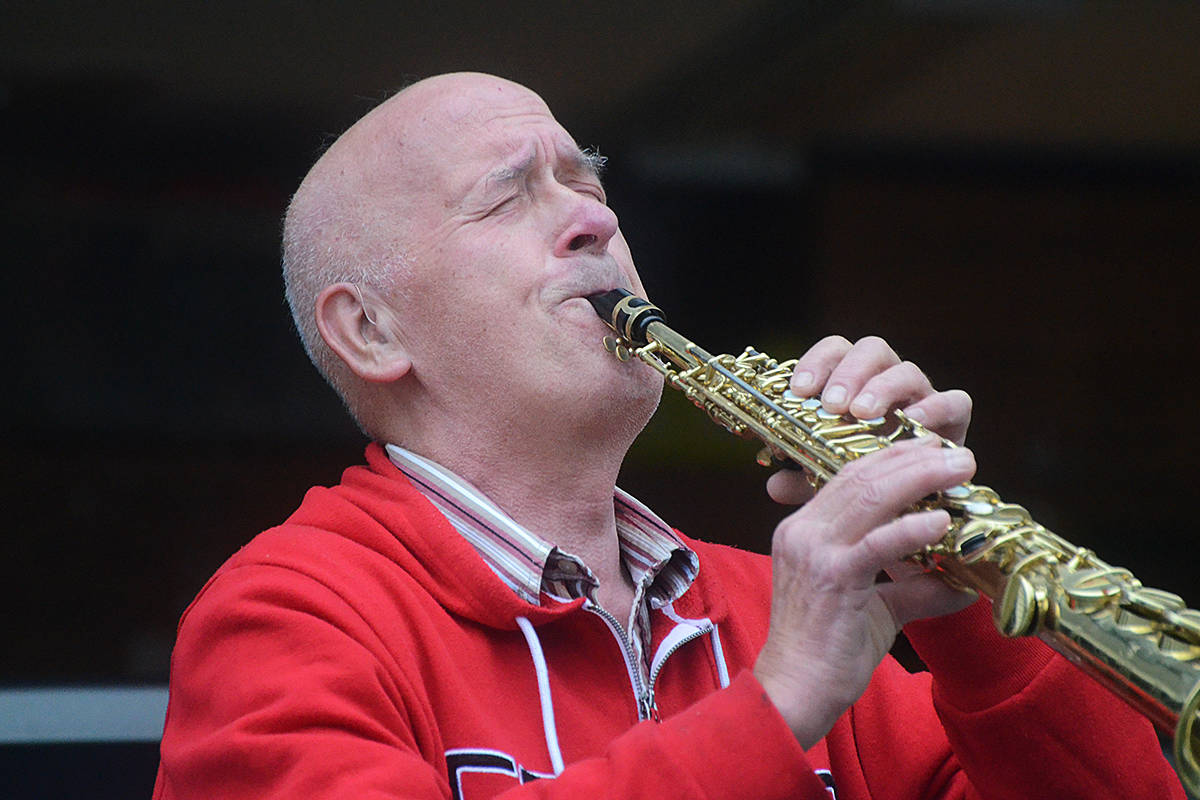 Uli Beutel played his saxophone in honour of first responders each night for weeks in his Langley City neighbourhood. (Langley Advance Times files)