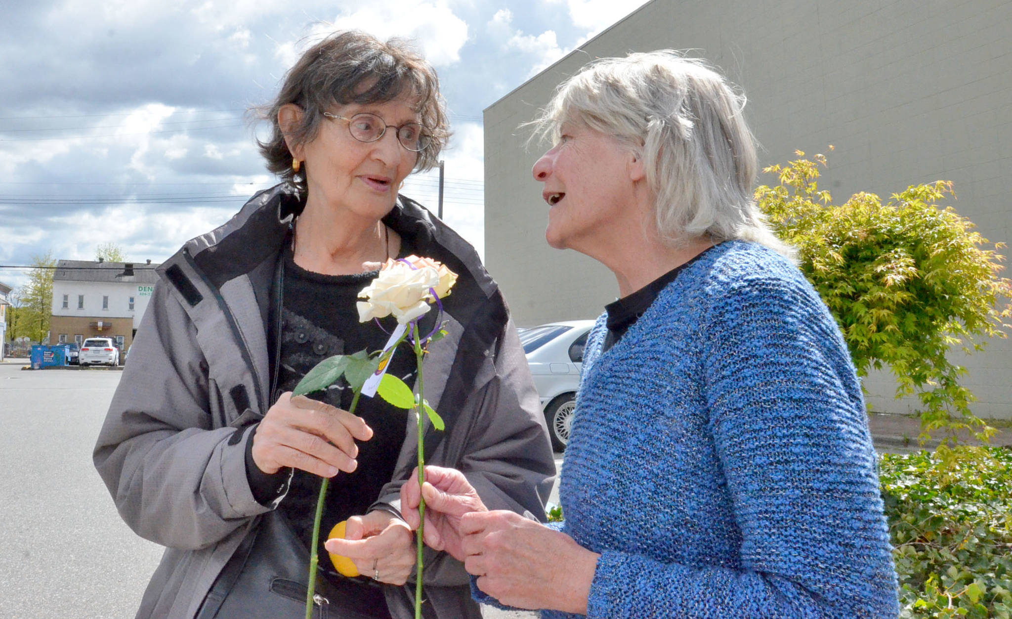 In recent years You've Gotta Have Friends members would spend a day handing out flowers to perfect strangers just to spread cheer and kindness. (Black Press Media files)