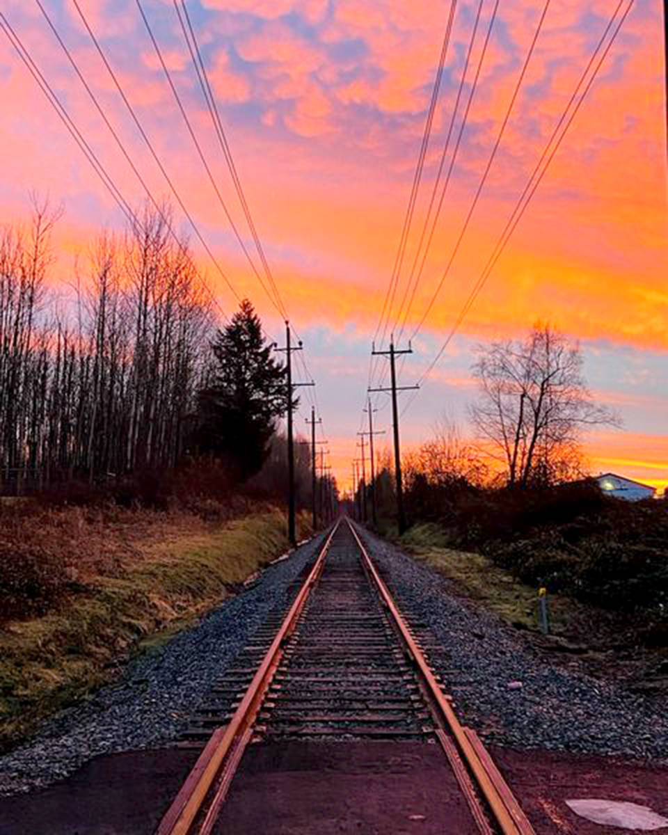 Melissa Carson submitted this photo of the train track near 248th Street in Langley Township. (Melissa Carson/Special to The Star)