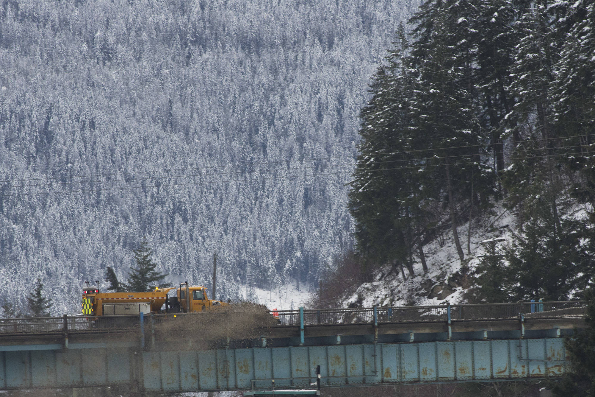 A winter storm warning is in effect for the Trans-Canada Highway from Eagle Pass to Rogers Pass on Friday, Jan. 1. (Jim Elliot/Eagle Valley News)