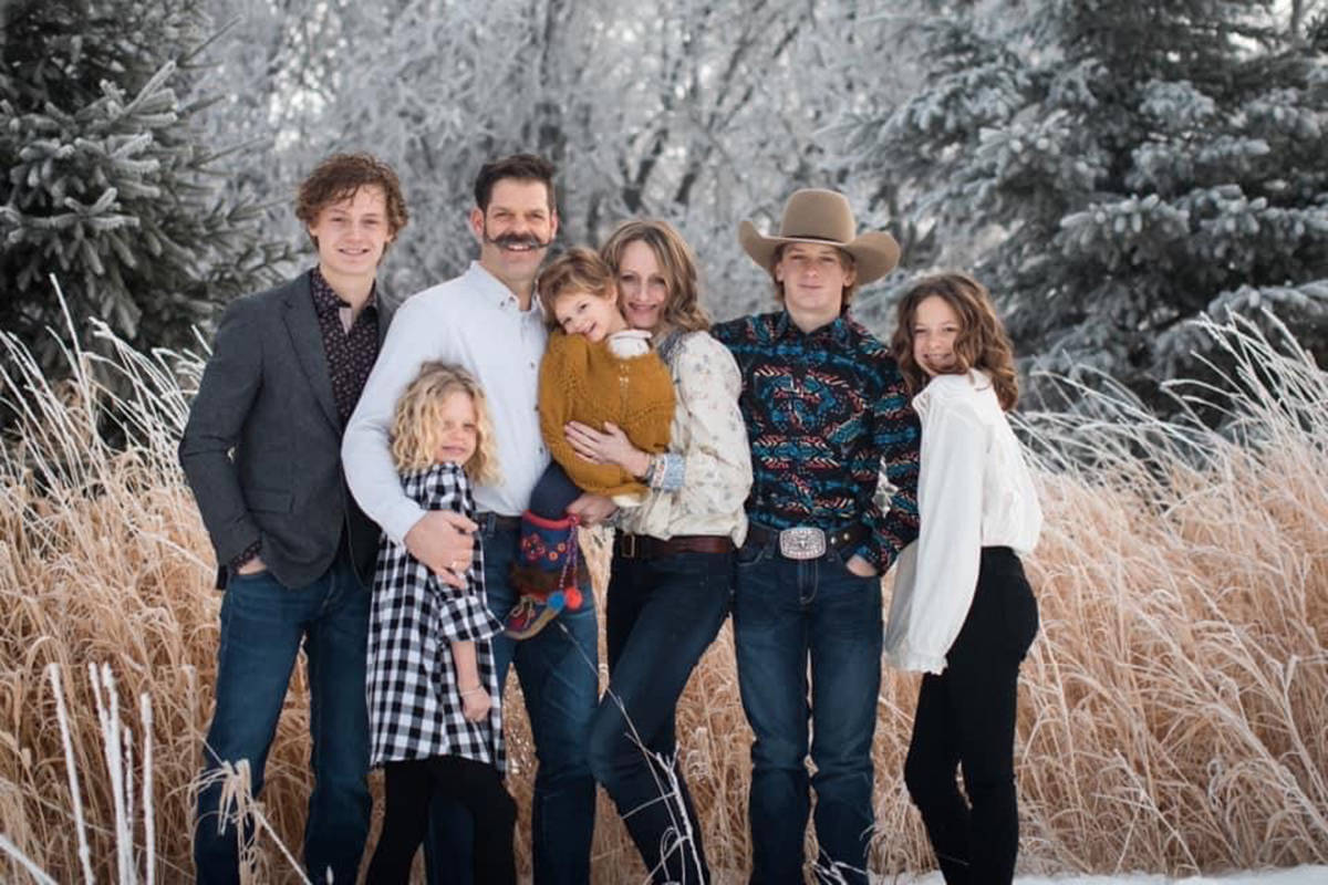 Members of the Balisky family Chevey, left to right, Jewel, Wade, Fleur, Aubrey, Remington, Indya are shown in this handout image. Four people who died in a helicopter crash on New Year's Day are being identified by loved ones as members of a strong and loving farm family from a small community in northern Alberta. The families of Wade Balisky, 45, and Aubrey Balisky, 37, say in a joint statement that they are grappling with the loss of the couple and two of their children, Jewel, 8, and Fleur, 2.THE CANADIAN PRESS/HO