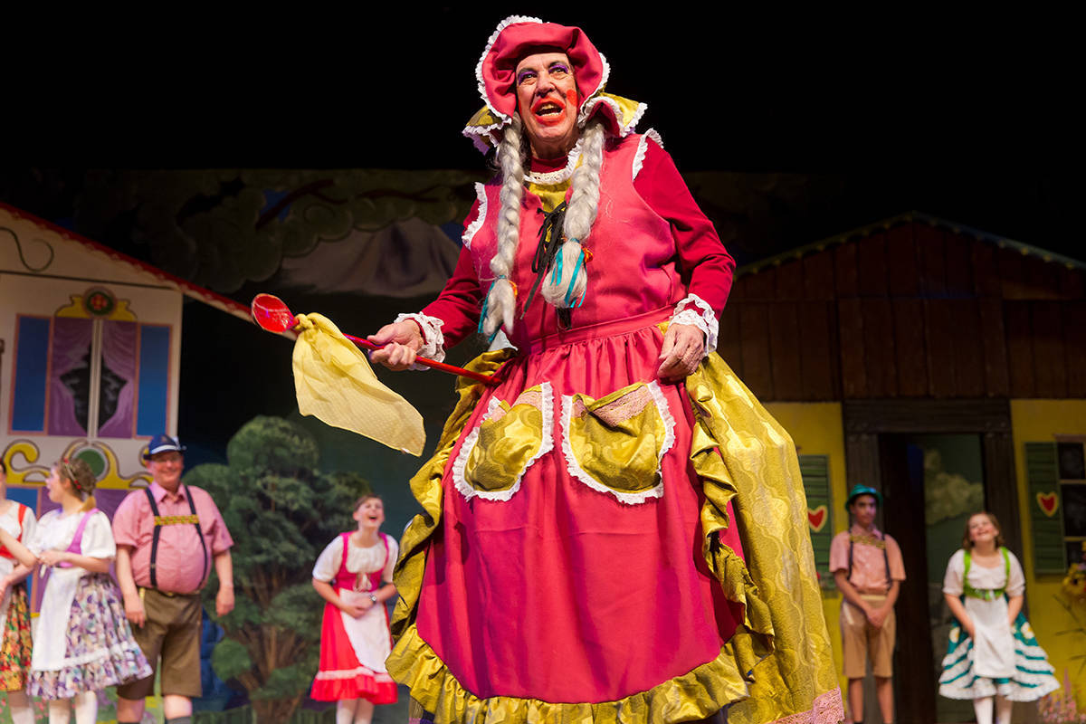 "Alan Cedargreen played Frau Schackenbacken in Royal Canadian Theatre Company's December 2016 pantomime, ""Beauty and the Beast,"" at Surrey Arts Centre. (Black Press Media files)"