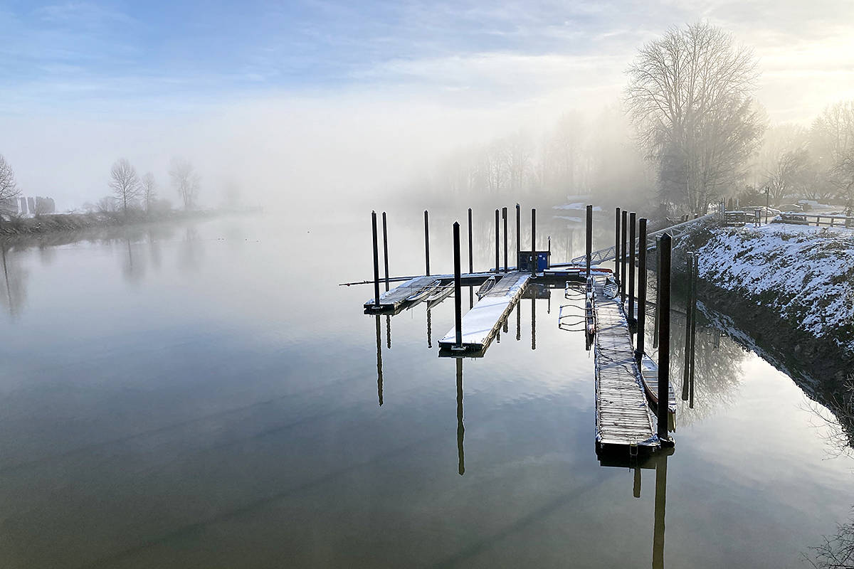 During a recent stroll through Fort Langley, Wout Brouwer captured this winter picture of Bedford Channel. (Special to Langley Advance Times)
