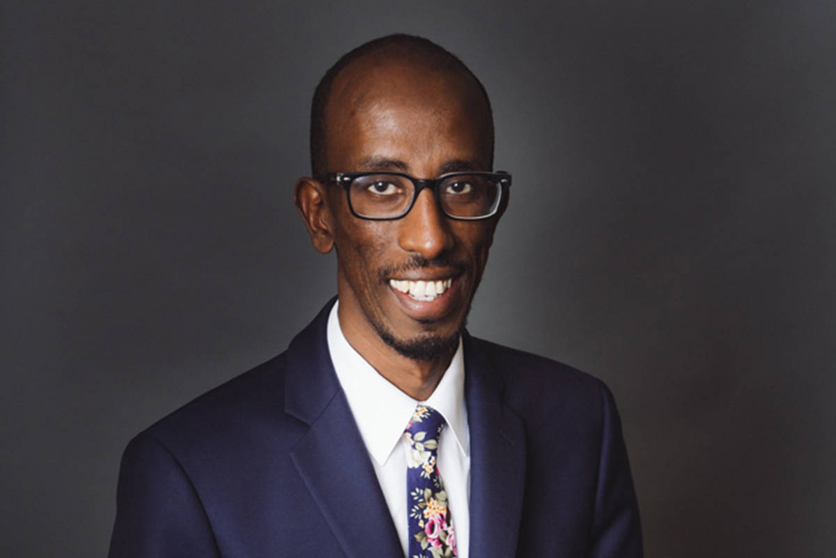 Coun. Sharmarke Dubow apologized to his constituents Tuesday evening for travelling abroad over the holidays. (File contributed/ City of Victoria)