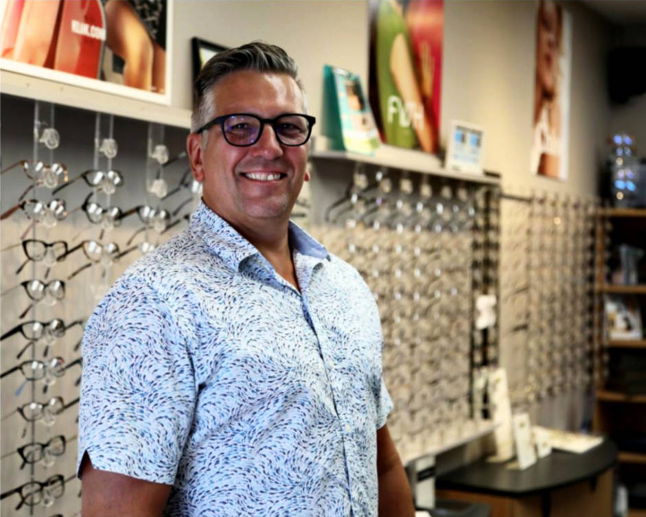 Andrew McCaron, owner of West Coast Optical, which has been helping Surrey see better since 1989.