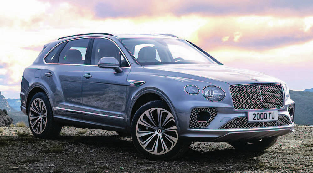 A plug-in version of the Bentley Bentayga utility vehicle already exists and the company has plans to electrify two other vehicles. PHOTO: BENTLEY