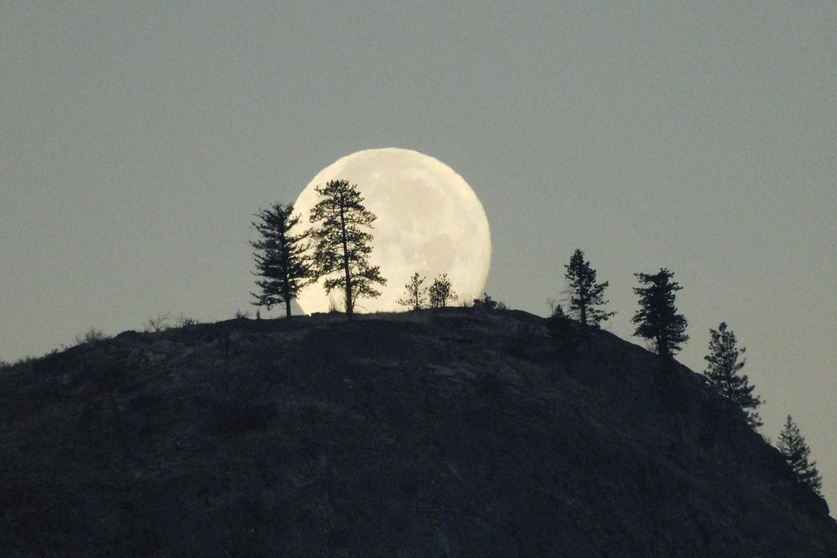 Bob Young of Osoyoos took this stunning photo of the full moon on Halloween 2020. (File)