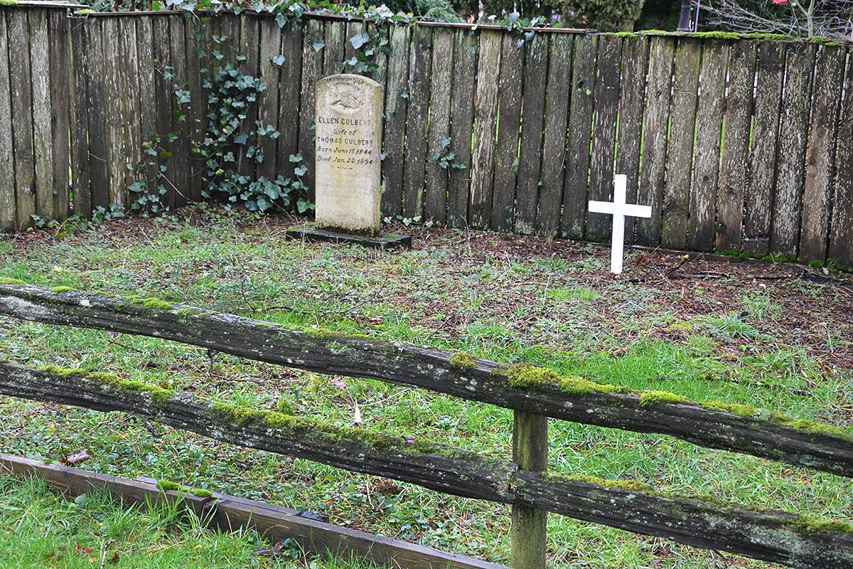 One of Langley's smallest properties is this pioneer cemetery containing two graves. (Matthew Claxton/Langley Advance Times) One of Langley's smallest properties is this pioneer cemetery containing two graves. (Matthew Claxton/Langley Advance Times)