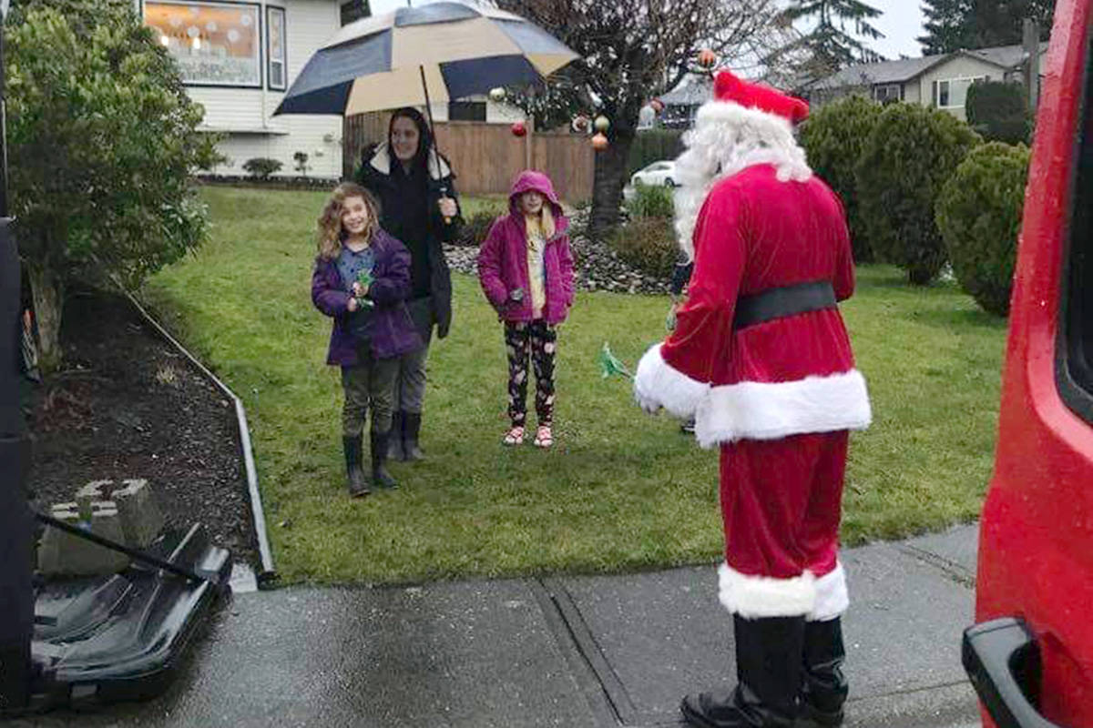 Sean Gallawan visited kids around the community on Dec. 19, 2020. (Special to Langley Advance Times)
