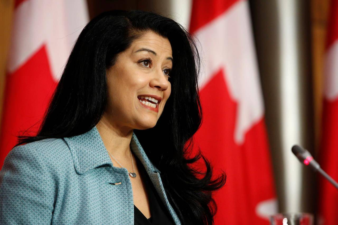 Dr. Supriya Sharma, chief medical adviser at Health Canada, speaks during a press conference to announce that Health Canada has authorized the Moderna COVID-19 vaccine, at the Sir John A. Macdonald Building in Ottawa on Wednesday, Dec. 23, 2020. THE CANADIAN PRESS/David Kawai