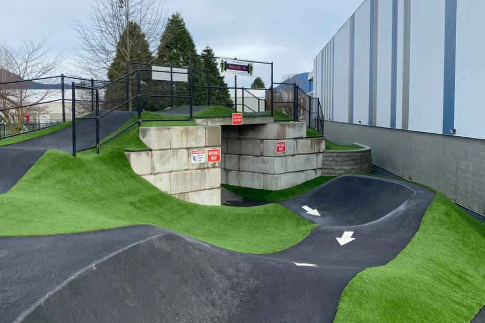 Chilliwack's pump track is scheduled to be open in the spring of 2021. (Facebook/ Chris Kloot)