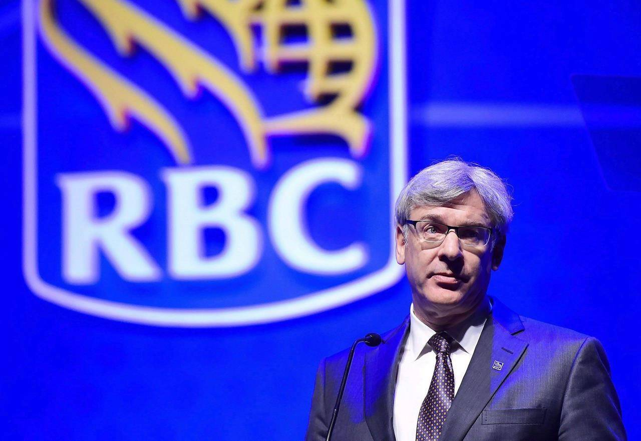 Royal Bank president David McKay speaks at the banks annual meeting in Toronto on April 6, 2017. McKay says it'll take a few million people in the country getting vaccinating to get the country on track for an economic rebound. THE CANADIAN PRESS/Frank Gunn