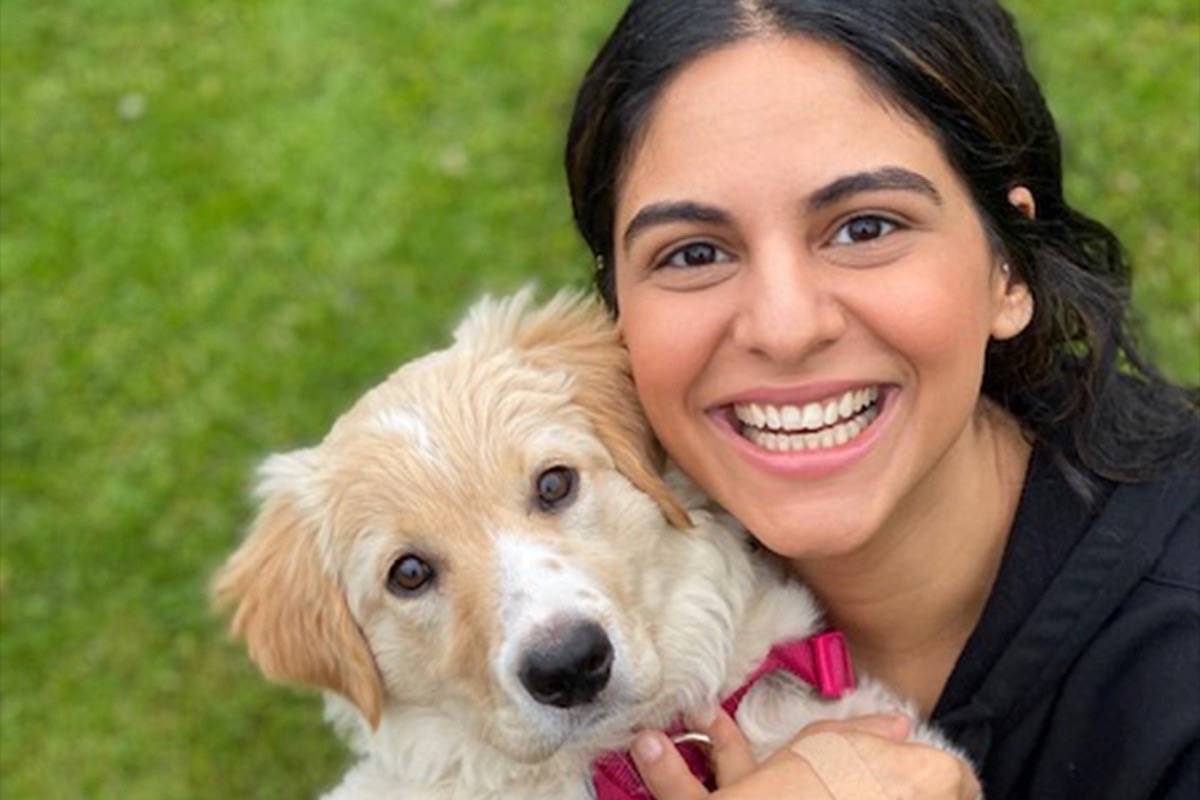 Rabiya Merani and her dog Scout. (Submitted photo)