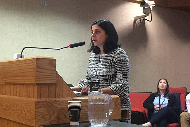 FILE – Interior Health medical health officer Dr. Silvina Mema addressed Kelowna city council. (Alistair Waters/Capital News)