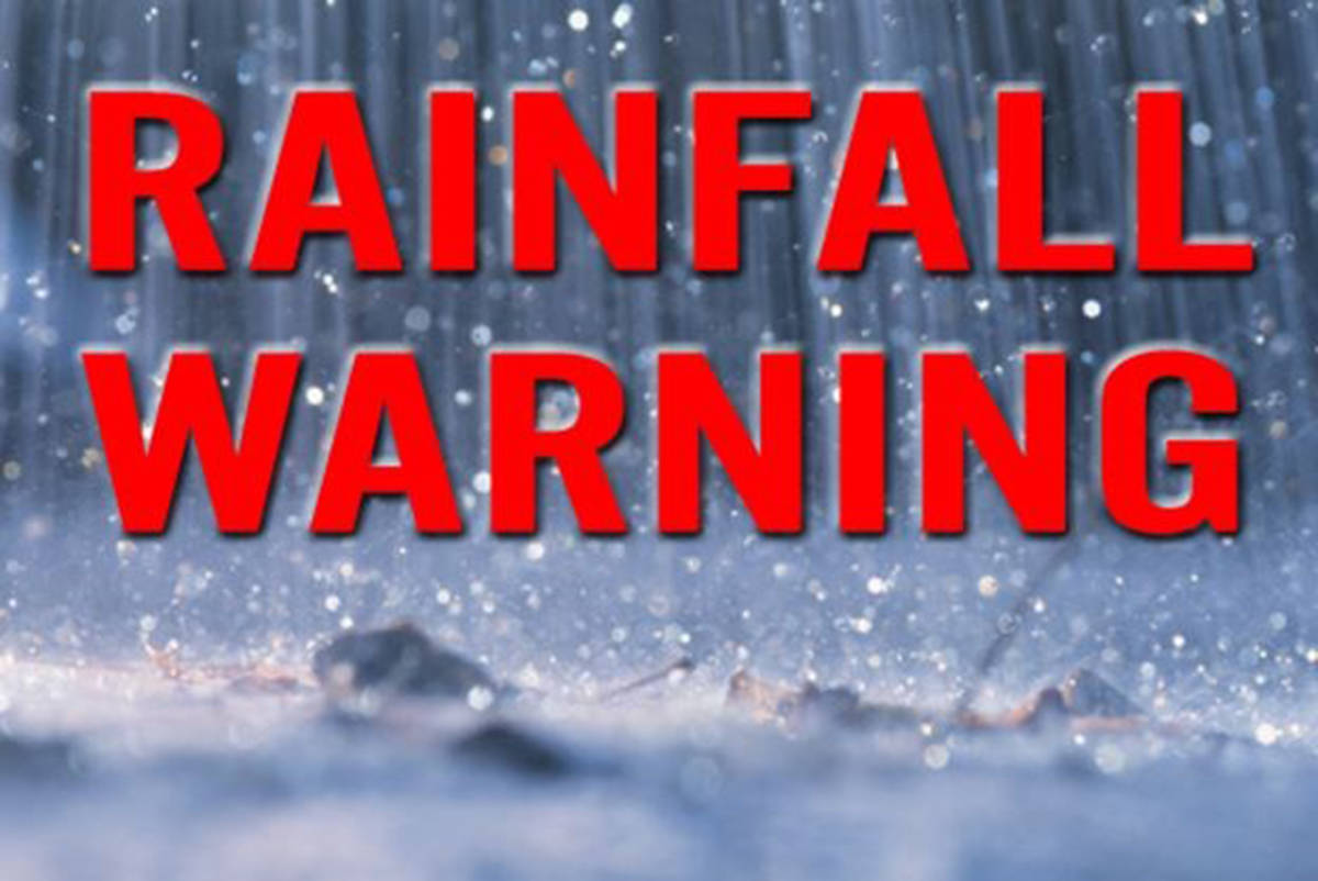 A rainfall warning is in effect for Metro Vancouver and the Fraser Valley. (Black Press files)