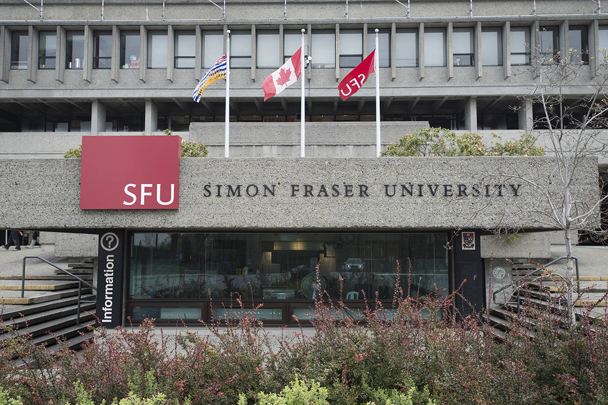 Simon Fraser University is pictured in Burnaby, B.C., Tuesday, Apr 16, 2019. THE CANADIAN PRESS/Jonathan Hayward